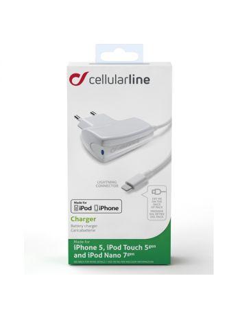 Сетевое зарядное устройство для Apple Cellular Line Lightning